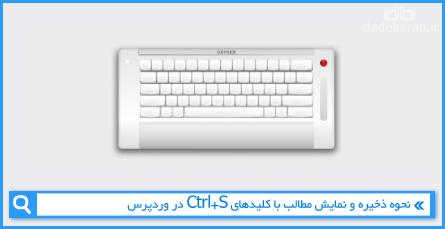 نحوه ذخیره و نمایش مطالب با کلیدهای Ctrl+S در وردپرس