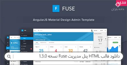 دانلود قالب HTML پنل مدیریت Fuse نسخه 1.3.0