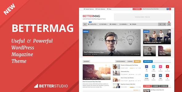 دانلود قالب خبری وردپرس BetterMag 2.7.0
