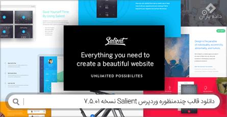 دانلود قالب وردپرس چندمنظوره Salient نسخه 7.5.01