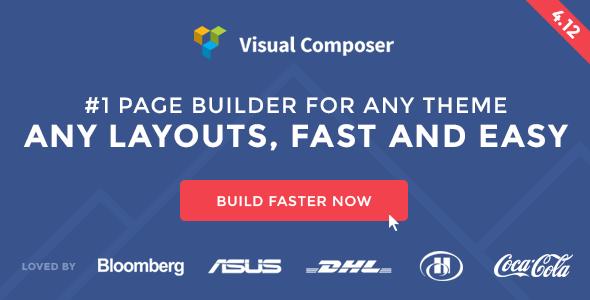 افزونه صفحه ساز ویژوال کامپوزر Visual Composer v4.12.1