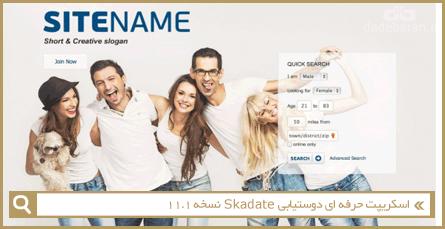 اسکریپت حرفه ای دوستیابی Skadate نسخه 11.1