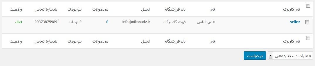 افزونه وردپرس دکان فارسی برای چند فروشندگی